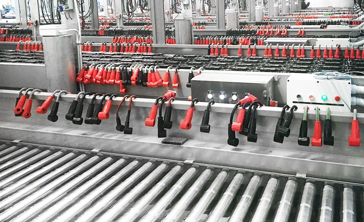 Roller conveyor in Water bath formation